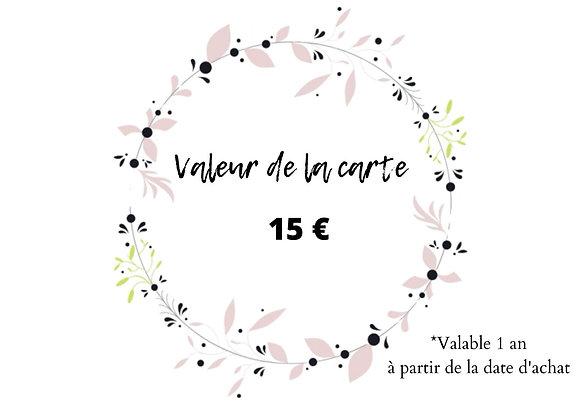 Carte Cadeau - 15€