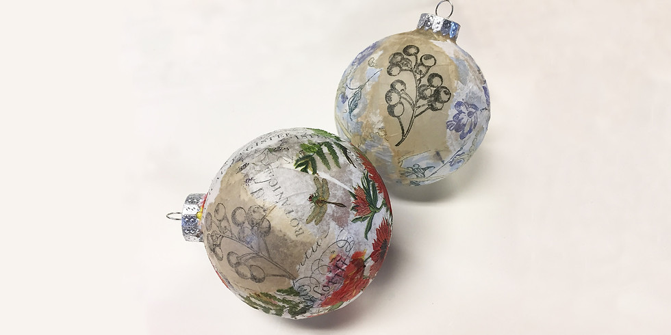 Collage Ornaments with a Vintage Vibe