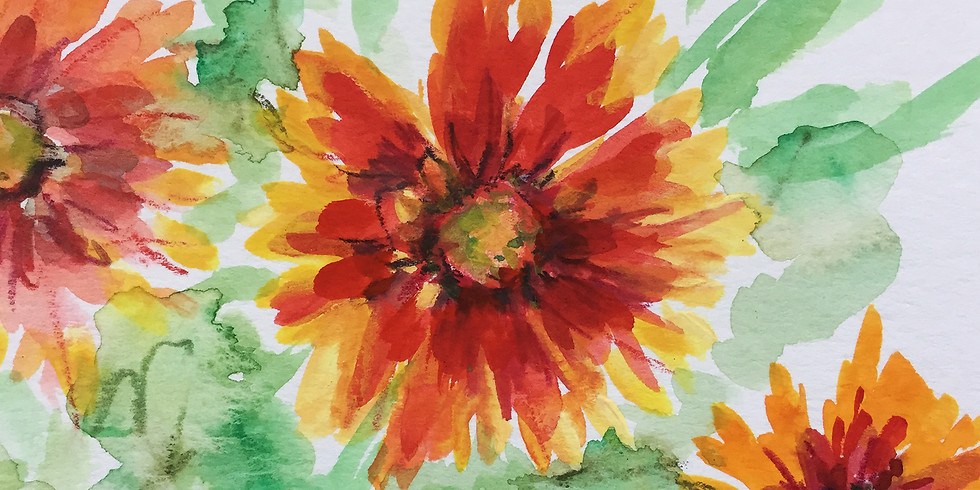 Gaillardia in Watercolor (ONLINE)