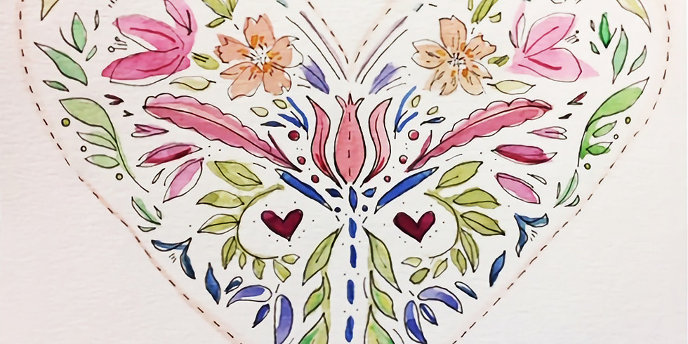 Folk Art Heart / Valentine Greetings