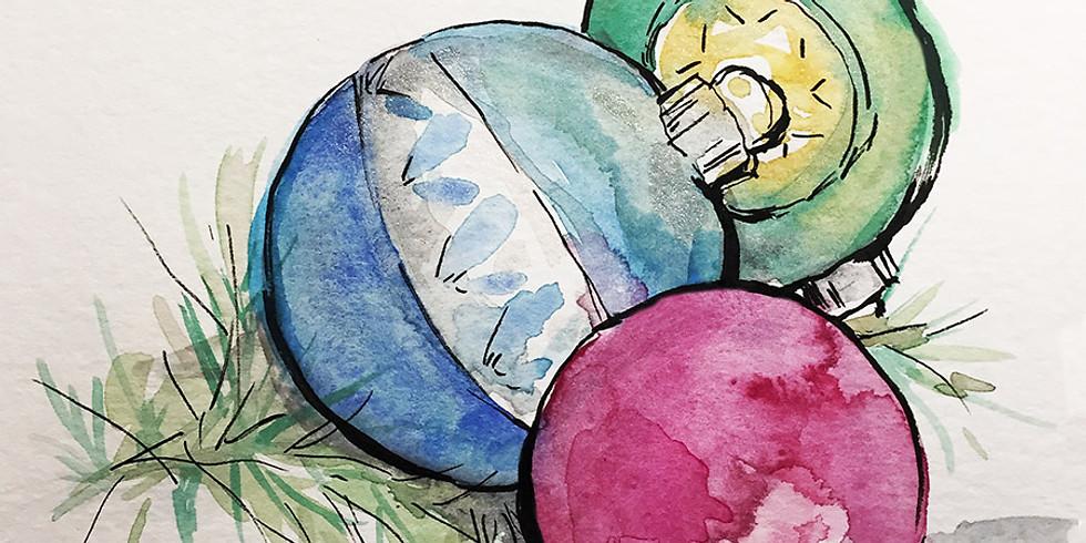Watercolor Holiday Greetings