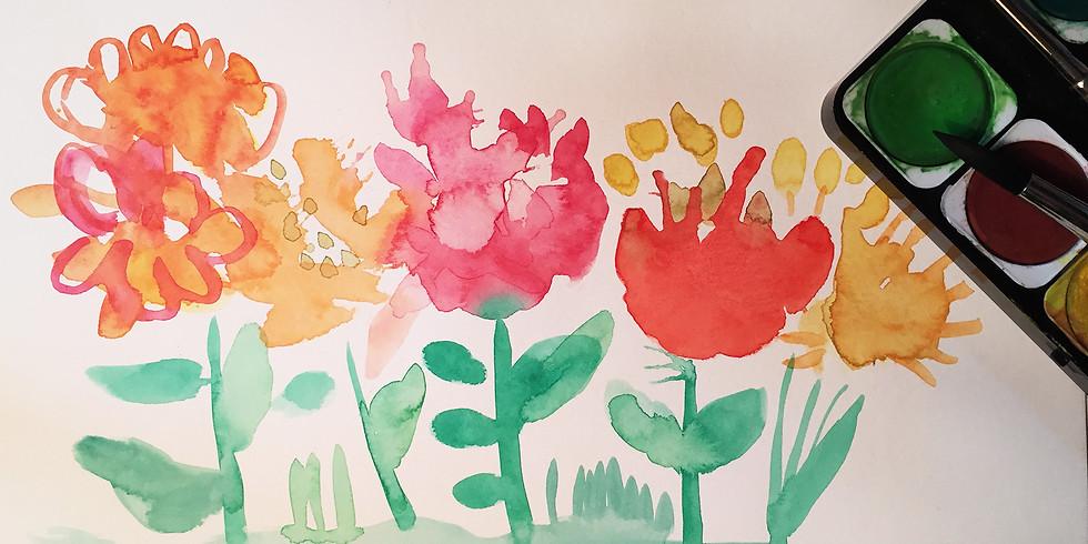 Family Paint-along Watercolor Garden