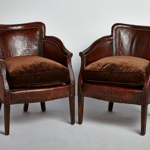 Compact French Club Chairs