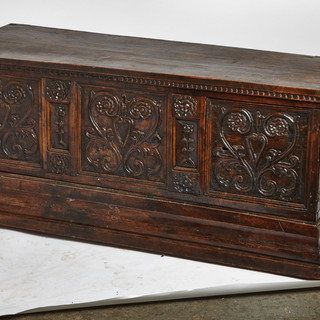 19th C Carved English Coffer