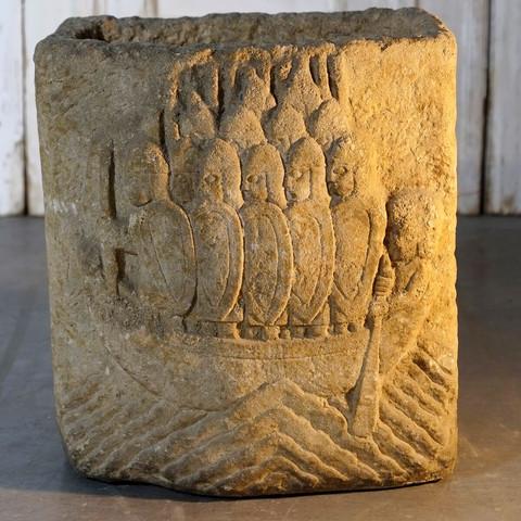 Figural Stone Cistern