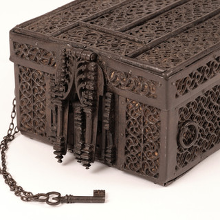 15th C Oak and Iron French Missal Box