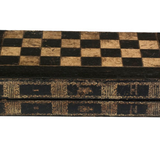 Faux Leather Bound Book Gameboard Box