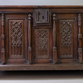Monumental 15th Gothic Coffer