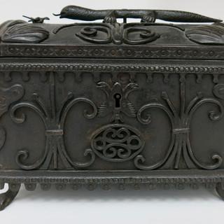 Late 17th C Spanish Forged Iron Box
