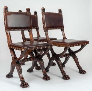 Set of 10 Renaissaunce Revival Chairs