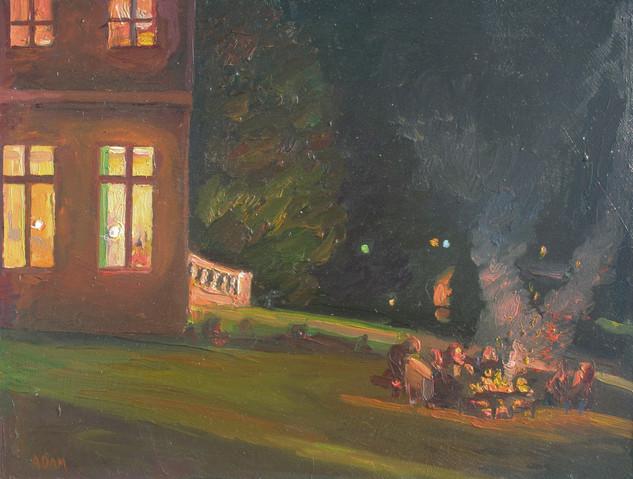 Bonfire at the Chateau