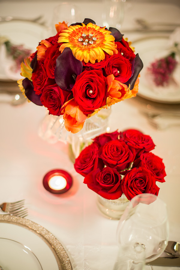 Red & Orange Centerpiece