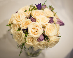 White & Purple Centerpiece