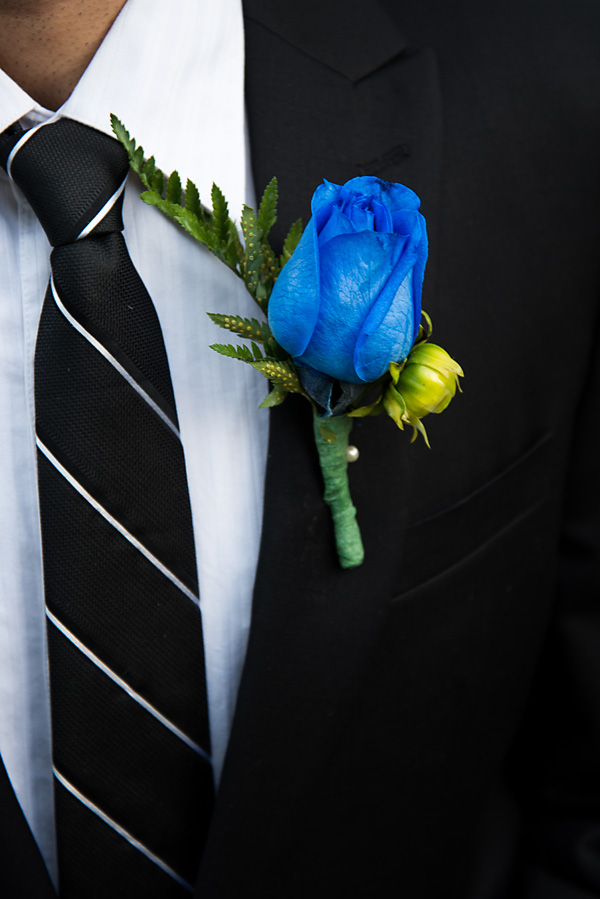 Blue Rose Boutonniere