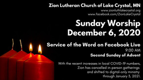 December 6 Online Resources for Worship