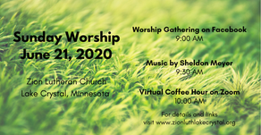 June 21, 2020 Sunday Worship Resources
