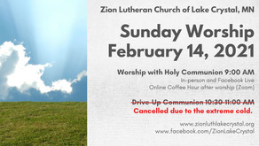 February 14, 2021 Online Resources for Worship