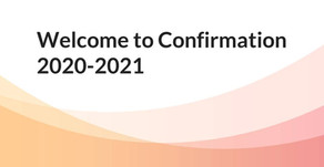 Welcome to Confirmation 2020-2021