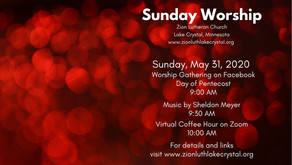 May 31, 2020 Sunday Worship Resources