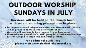 July 5, 2020: Online Resources for Worship