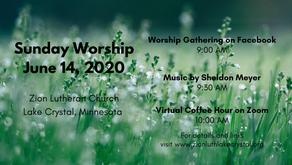 June 14, 2020 Sunday Worship Resources