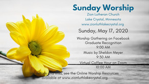 May 17, 2020 Sunday Worship Resources