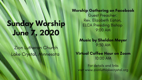 June 7, 2020 Sunday Worship Resources