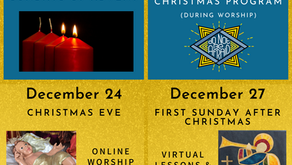 Advent & Christmas Worship Schedule