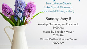 May 3, 2020 Sunday Worship Resources