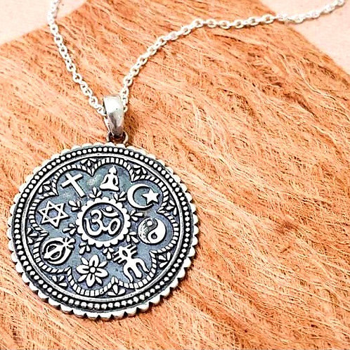 One Love Pendant with 925 Silver sterling necklace