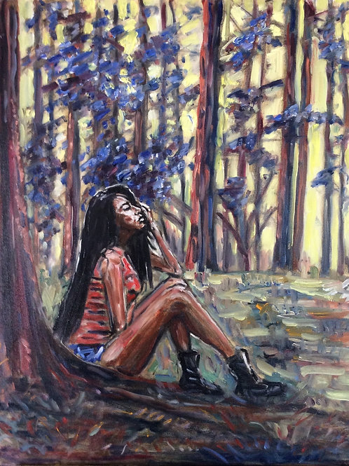 Octavia Dingss Commune in Nature (Painting) by Reginald V