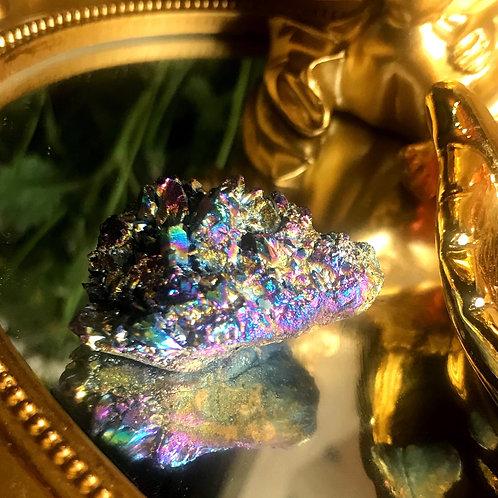Rare Precious Titanium Rainbow aura quartz III