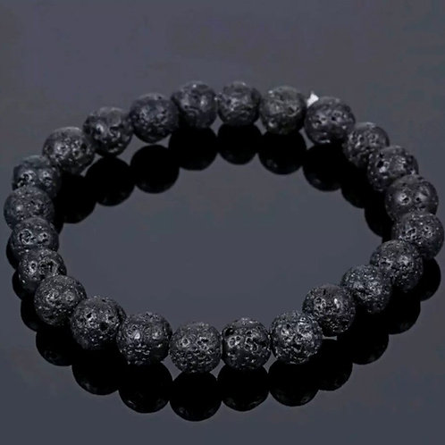 Charged Pure Lava Stone bracelet 100% from volcano