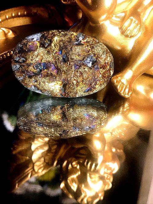 Semi-Precious Iridescent Rainbow Pyrite #1