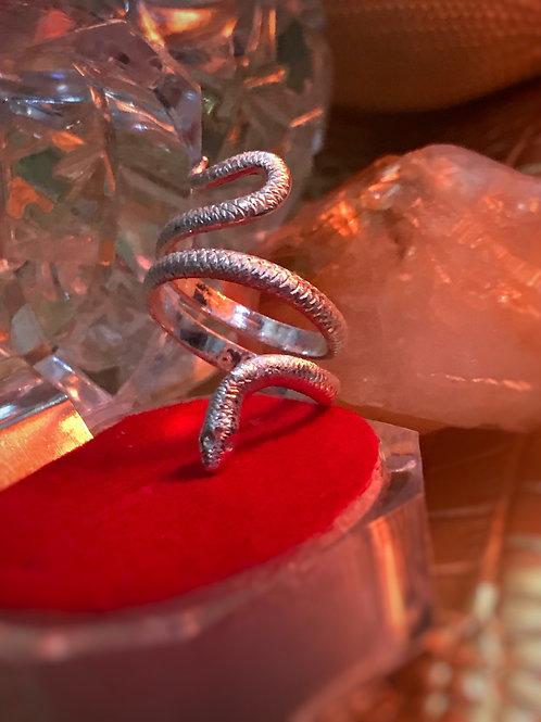 Kundalini Healing Snake Wrap Ring Size 6 - 8