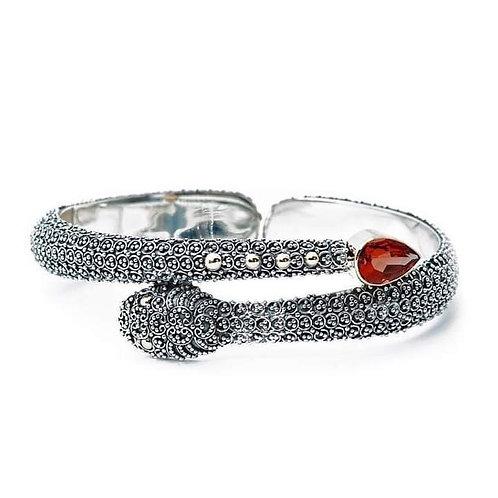 Kundalini Garnet 925 Silver bangle