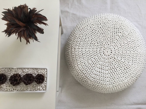 large crochet floor cushion