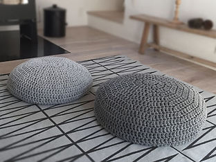 Modern Crochet Floor Cushions
