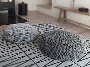 Modern Crochet Floor Cushions