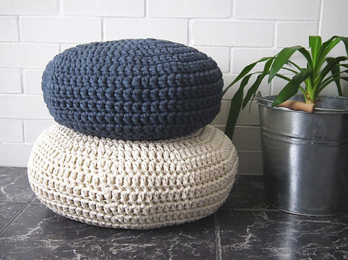 Crochet Meditation Floor Cushions - Soft Cotton Seating Pillows
