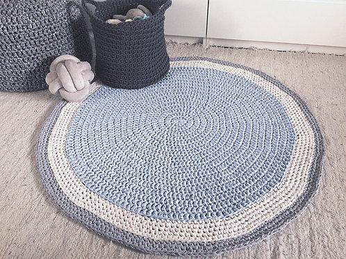 Crochet Round Rug, Modern Nursery Playmat