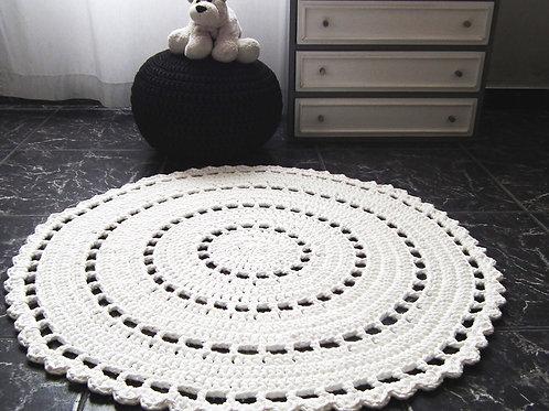 Large Round Doily Rug