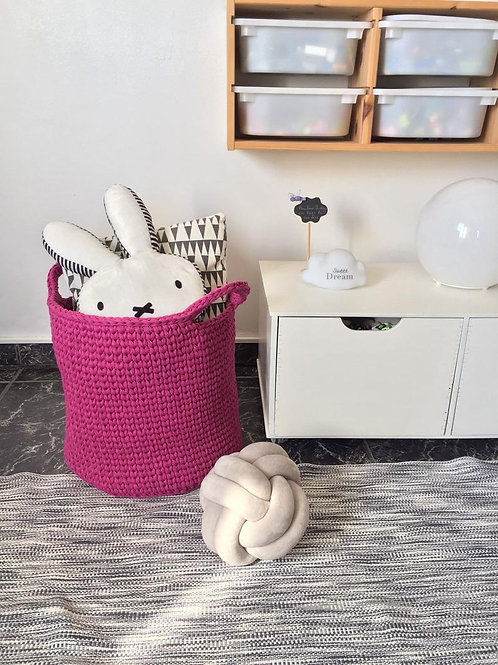 Violet Large Knit Toy Basket