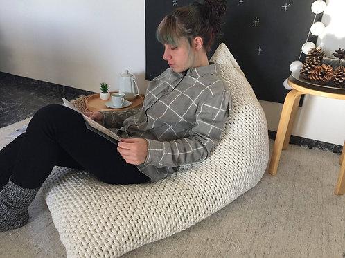knit bean bag chair