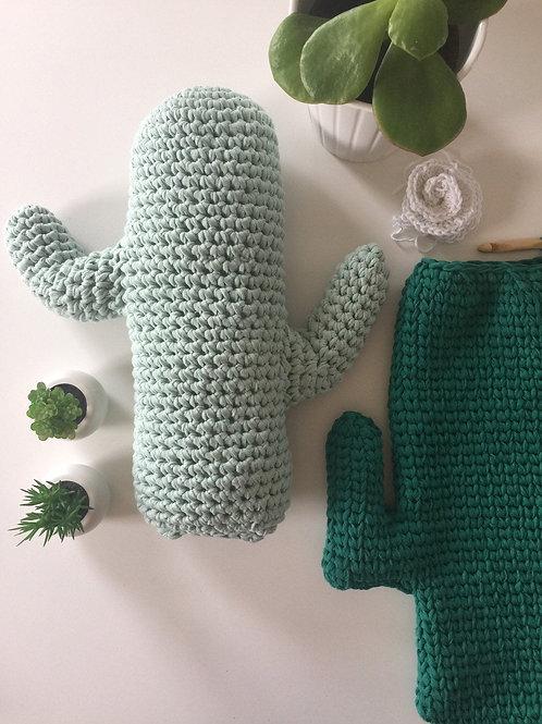 Large Crochet Saguaro Cactus Pillow Toy - Southwestern Kids Room Decor