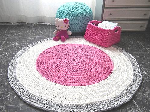 Crochet Playmat Rug - Soft Cotton Floor Mat