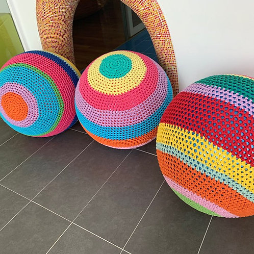 Gym Ball Crochet Covers - Eco friendly Soft Covers