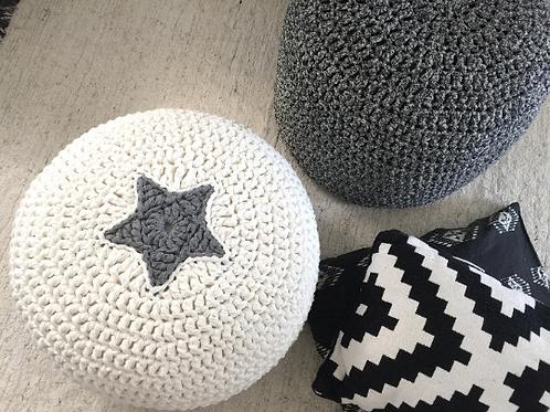 Modern Crochet Floor Cushions with Star - Baby Room Decor