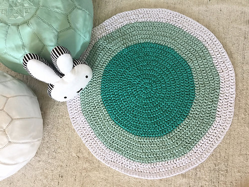 Mint Crochet Playmat Rug - Baby Shower Gift