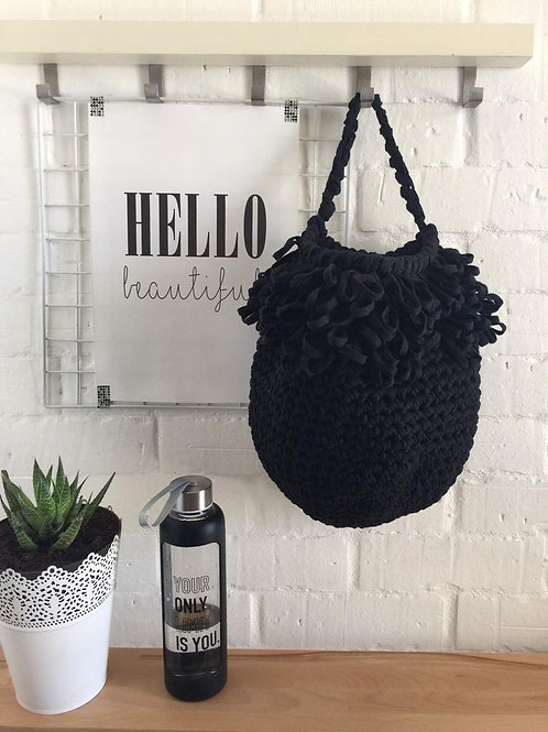 Modern Boho Wall Hanging Basket - Fringe Hanging Bag